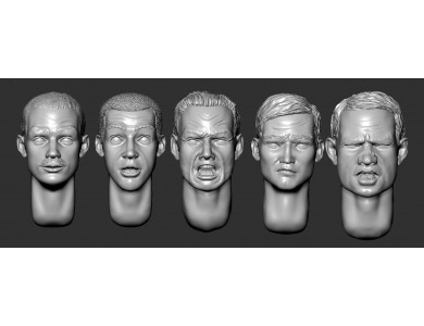 ARM356049 Hairy heads (set 10)
