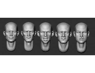 ARM356051 Bald heads (set 11)