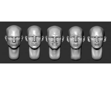 ARM356054 Bald heads (set 12)
