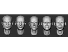 ARM356066 Bald heads (set 14)