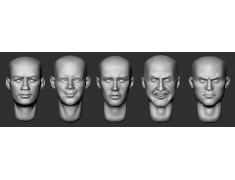 ARM356069 Bald heads (set 15)