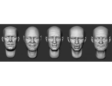 ARM356075 Bald heads (set 17)