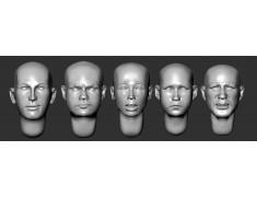ARM356078 Bald heads (set 18)