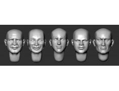 ARM356081 Bald heads (set 19)