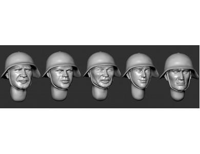 ARM356083 Soviet heads in helmets SH-36 (set 1)