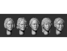 ARM356090 Female heads (set 4)