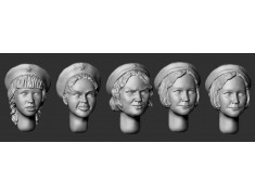 ARM356091 Female heads in berets