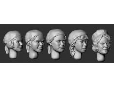 ARM356092 Female heads, medical staff (WWII)