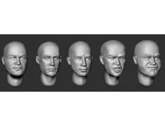 ARM356093 Bald heads (set 20)