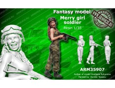 ARM35907 Merry girl soldier