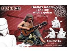 ARM35916 Танкистка с гитарой