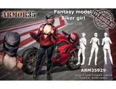 ARM35929 Biker girl